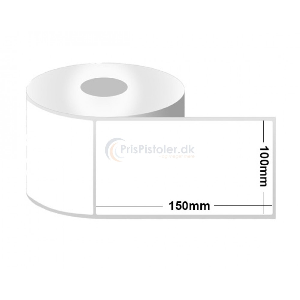 Hvid Thermo etiketter 100x150 mm - pakke m. 6 ruller - 2.400 etiketter
