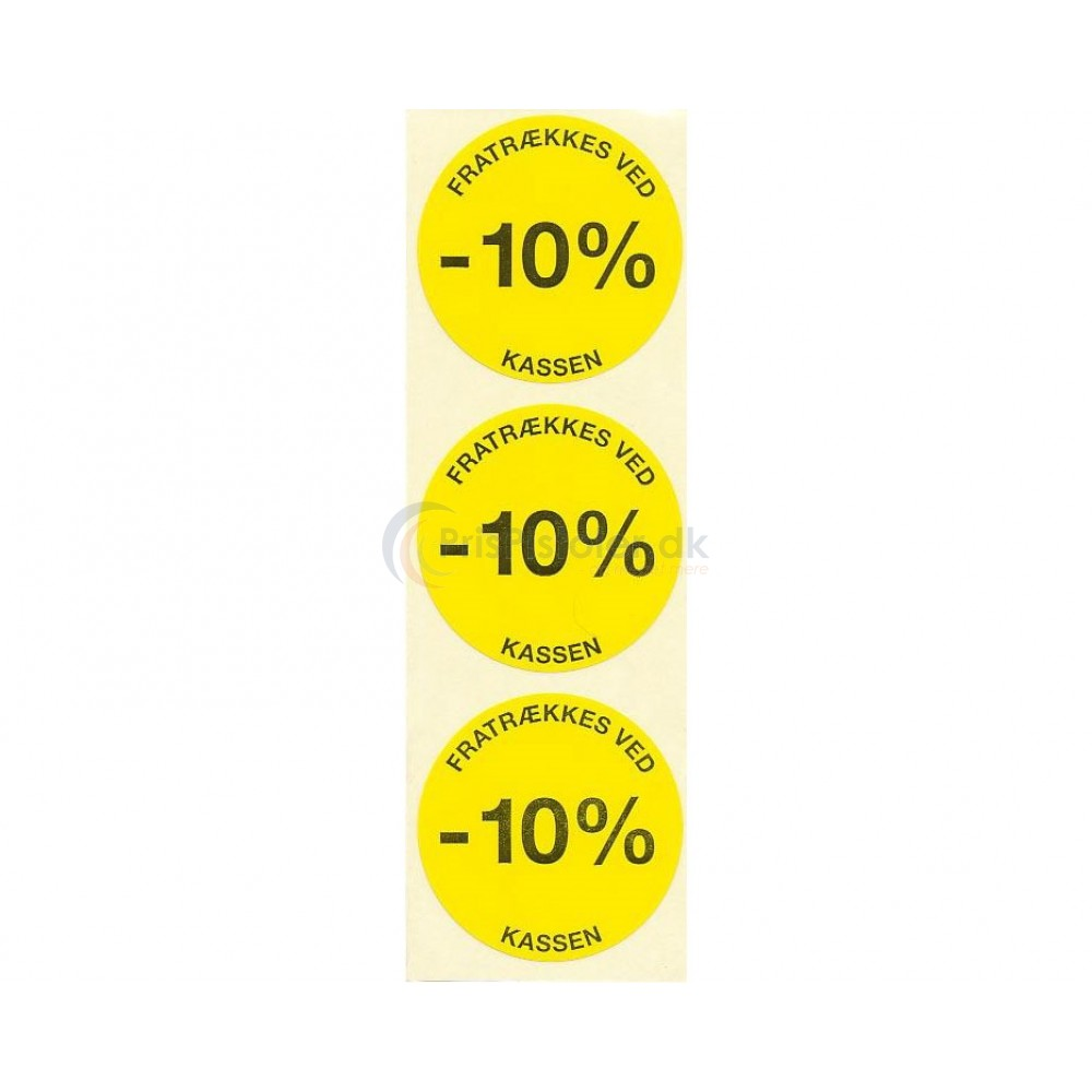 10 % rabat etiketter - 1 rulle