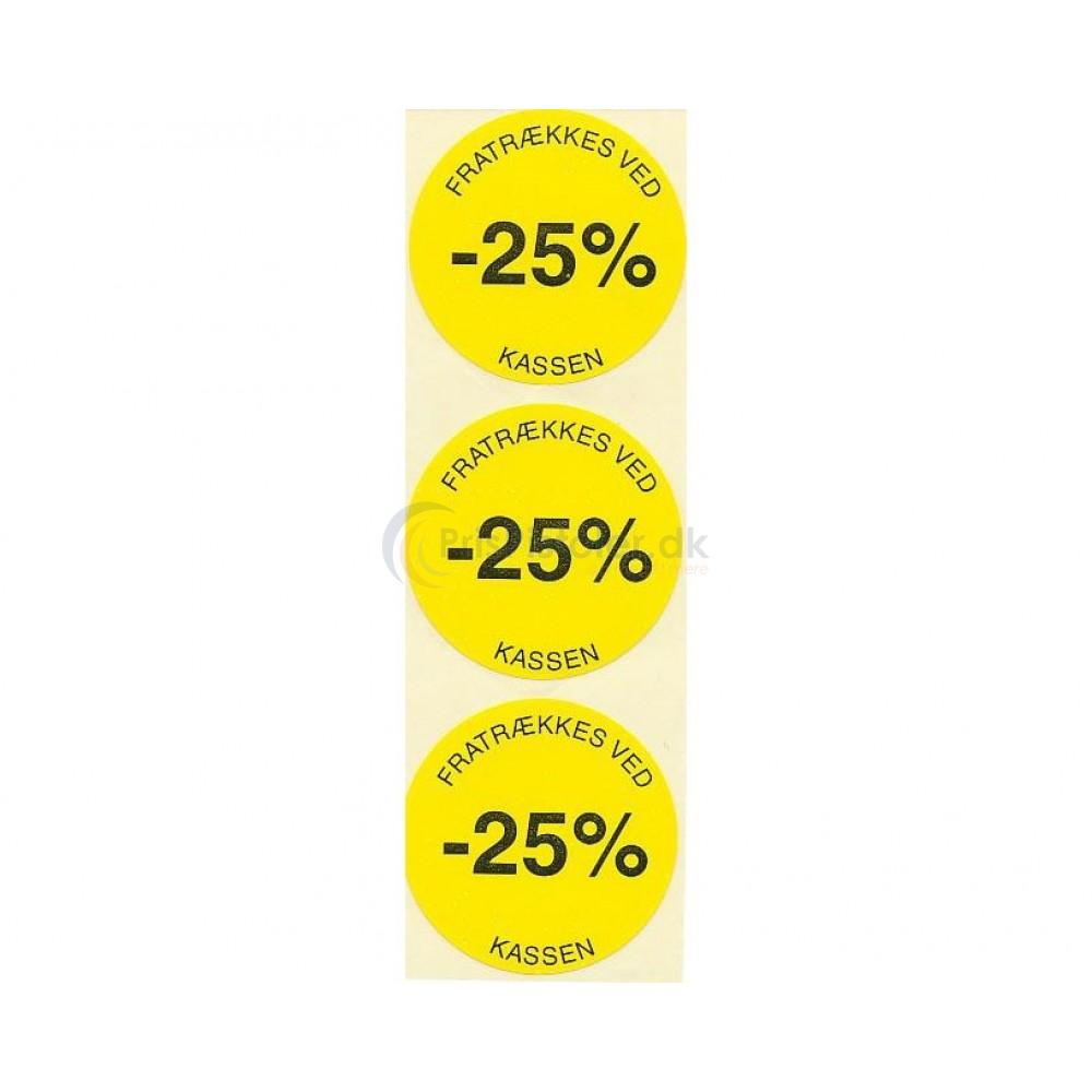 25 % rabat etiketter - 1 rulle