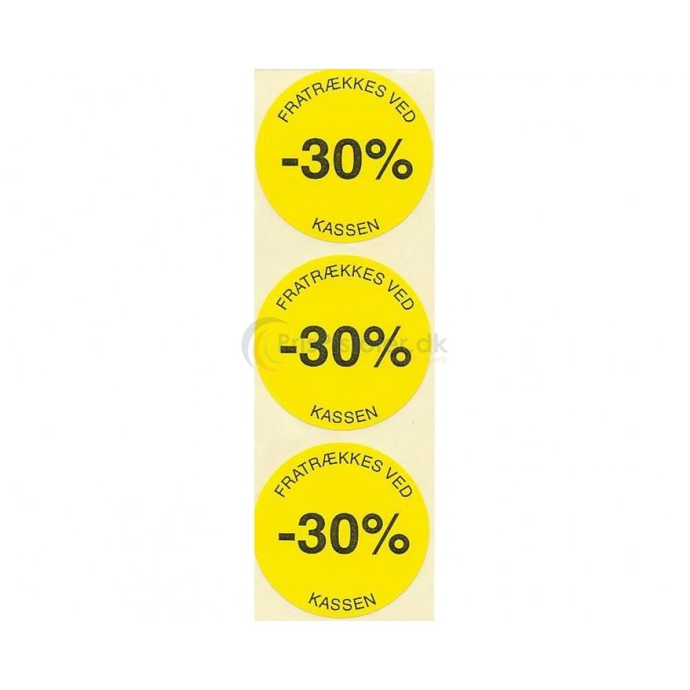 30 % rabat etiketter - 1 rulle