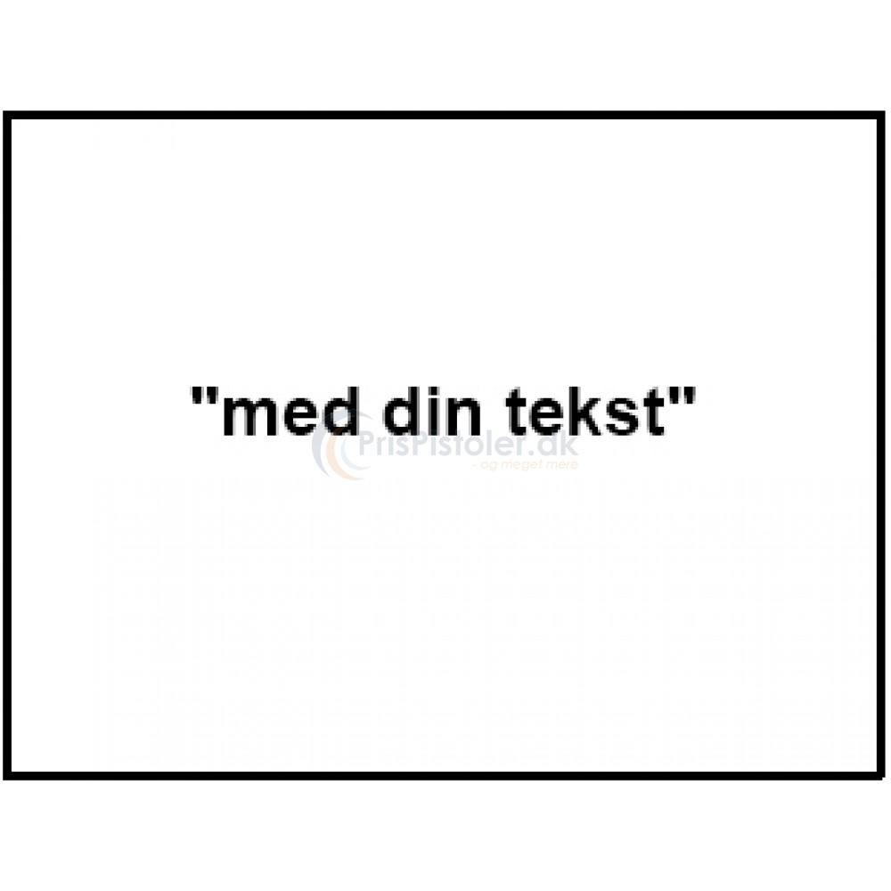 """Label """"med din tekst"""" – Pakke m. 10 ruller"""