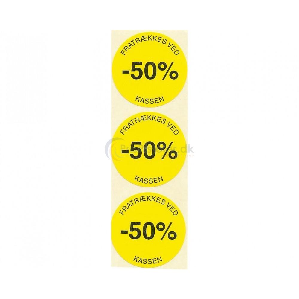 50 % rabat etiketter - 1 rulle