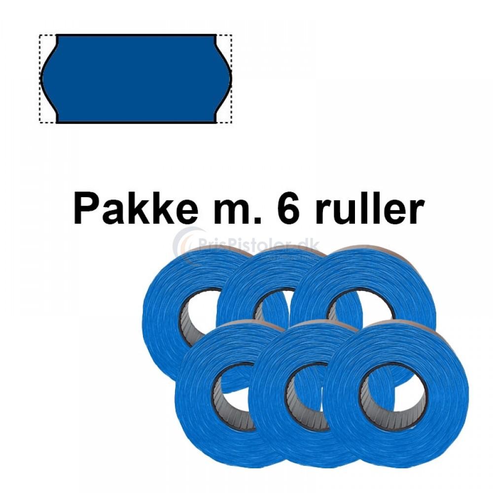 Frost Prismærker 26x12mm Blå - Pakke m. 6 ruller