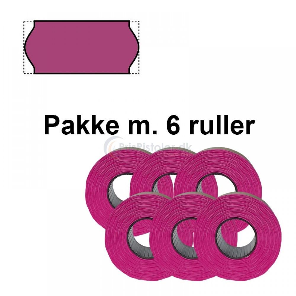 Frost Prismærker 26x12mm Lilla - Pakke m. 6 ruller