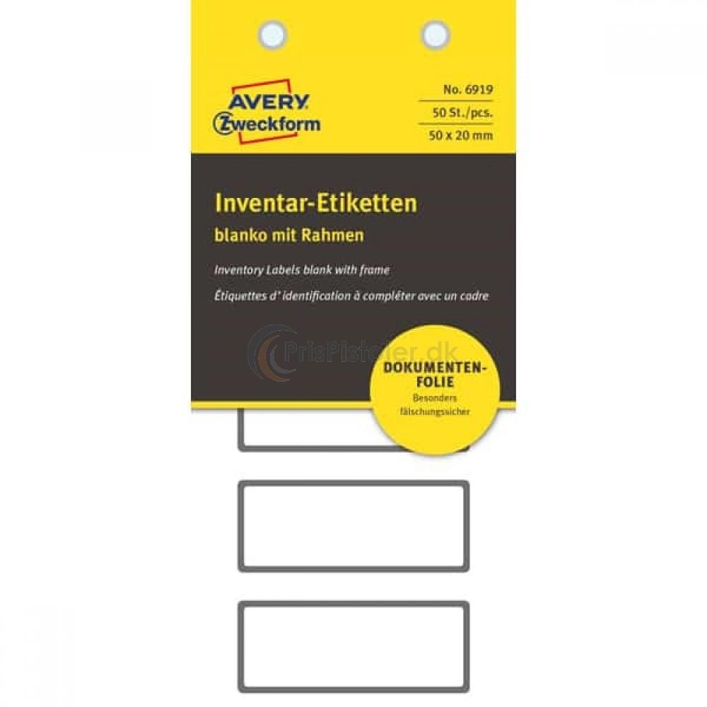 Etiketter til inventar og udstyr, NoPeel