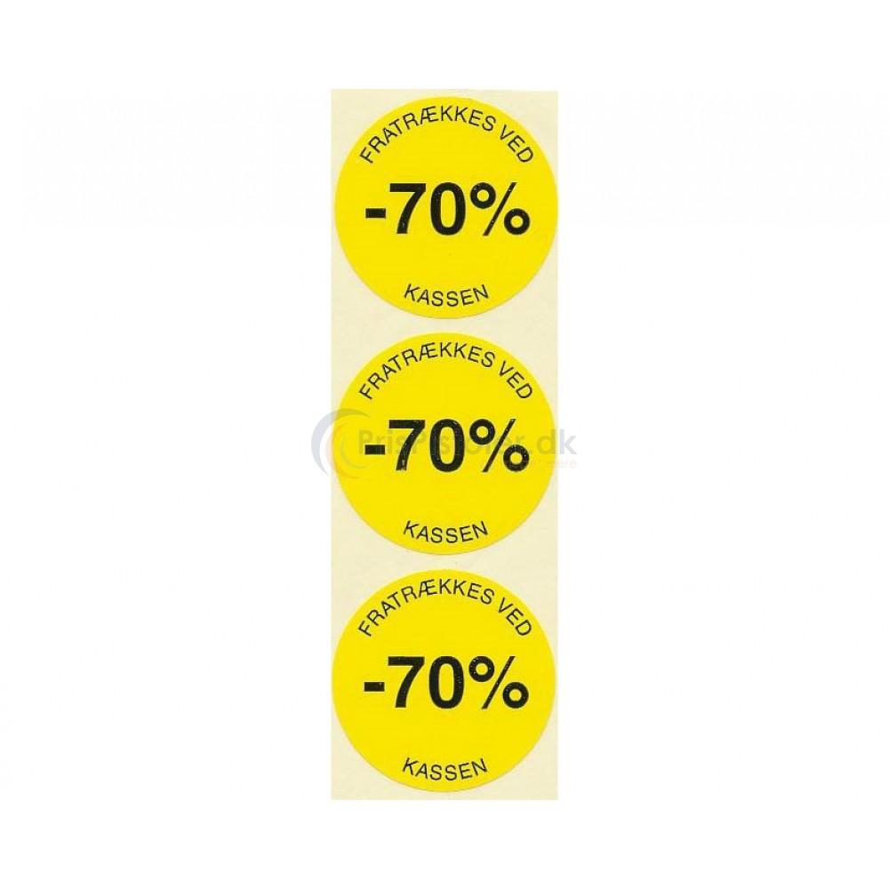 70 % rabat etiketter - 1 rulle