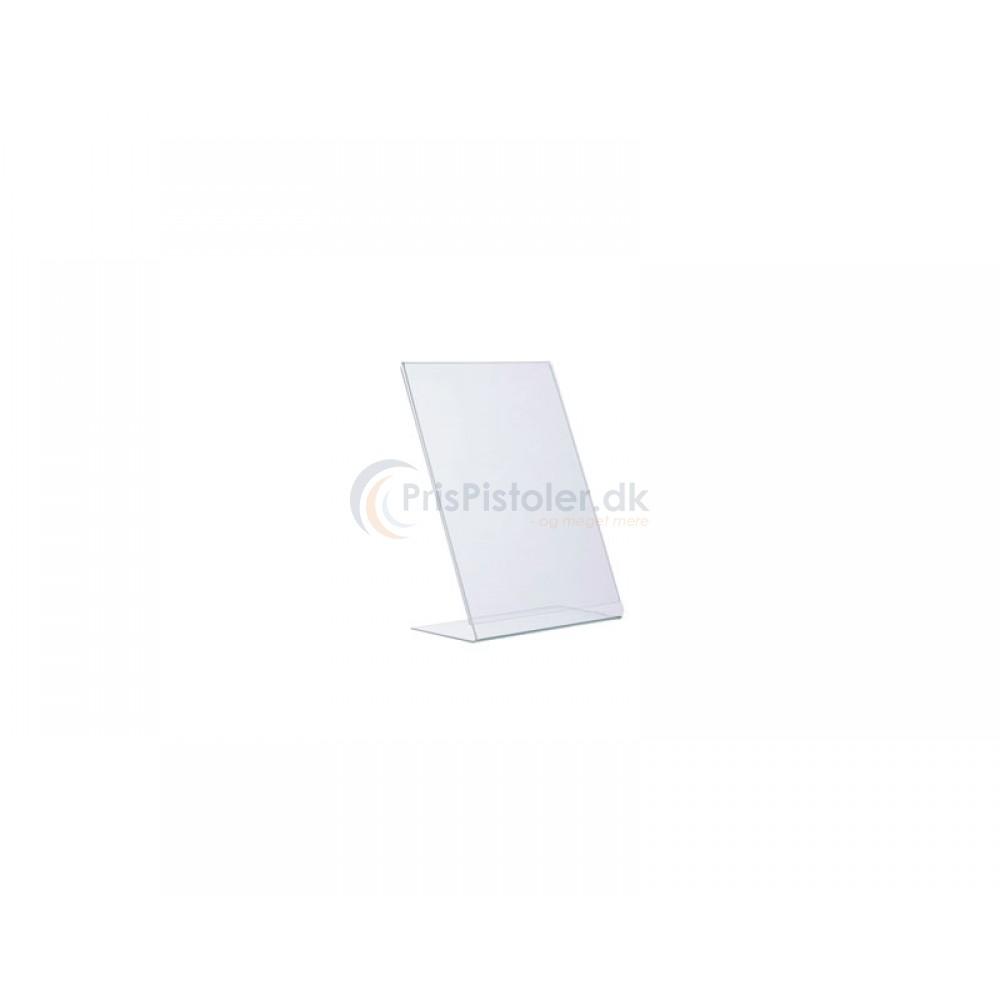 Akryl skilt L-form A7 - 5 stk.