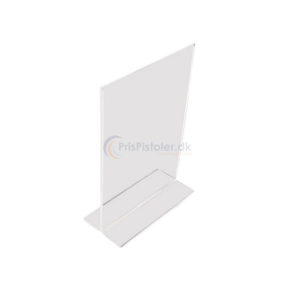 Akryl skilt T-form A4 - 5 stk.
