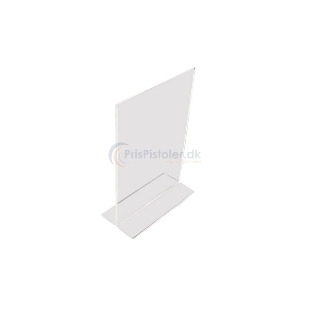 Akryl skilt T-form A5 - 5 stk.