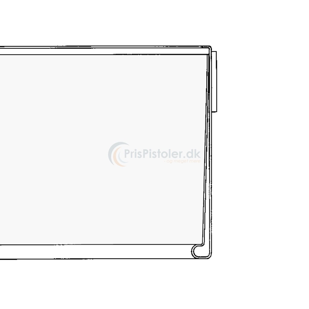 Hyldeforkantsliste, klar tape på bagsiden transparent 26x885 mm - 50 stk.
