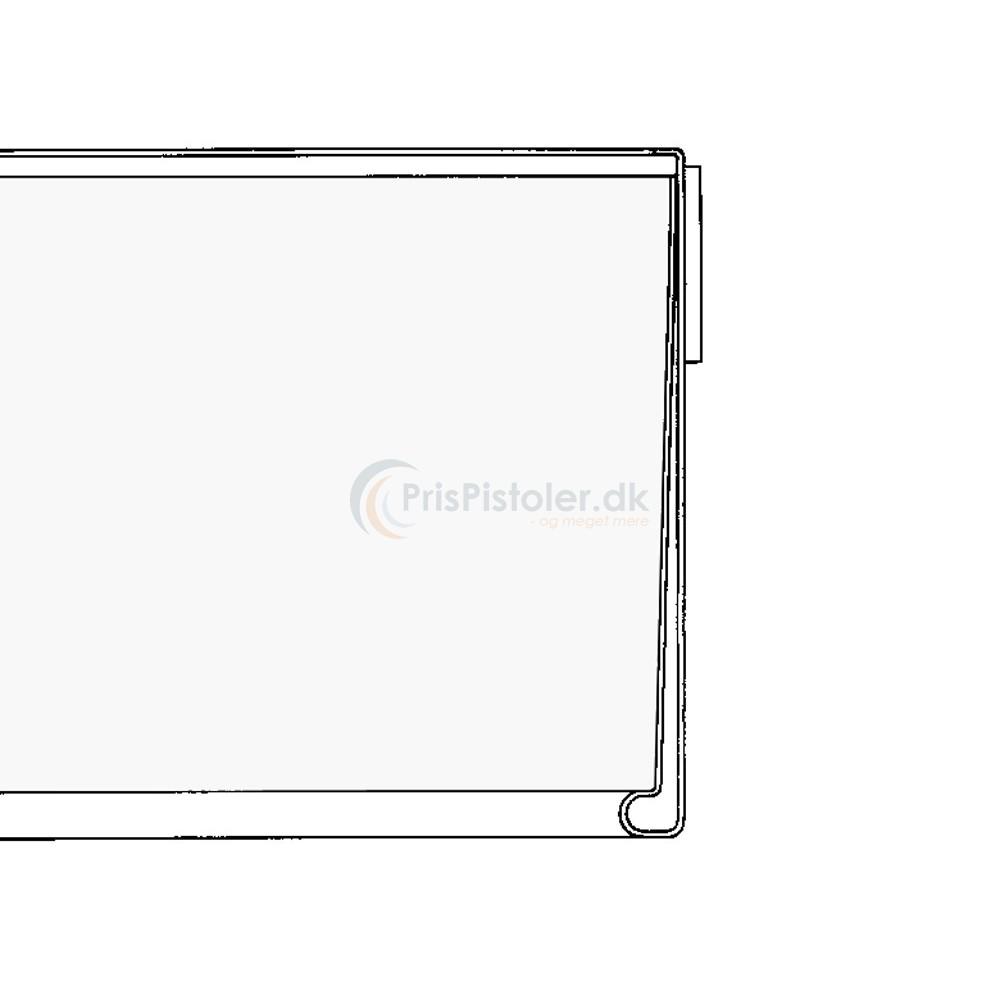 Hyldeforkantsliste, klar tape på bagsiden transparent 39x885 mm - 50 stk.