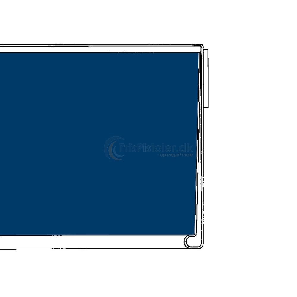 Hyldeforkantsliste flad med skumtape på bagsiden blå 39x885 mm - 50 stk.