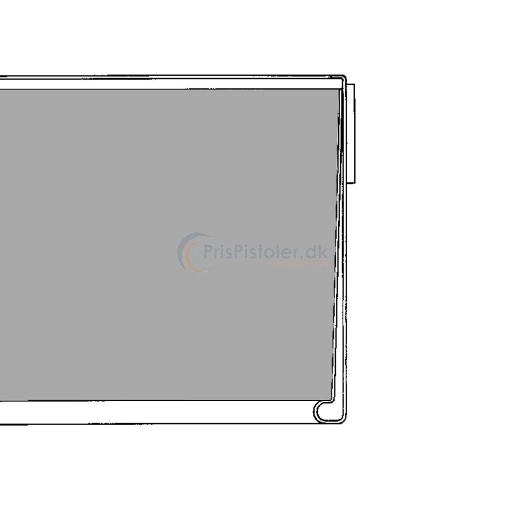 Hyldeforkantsliste flad med skumtape på bagsiden metalgrå 39x885 mm - 50 stk.