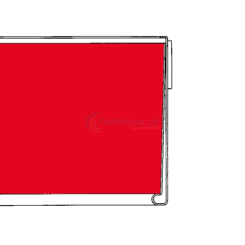 Hyldeforkantsliste flad med skumtape på bagsiden rød 26x885 mm - 50 stk.