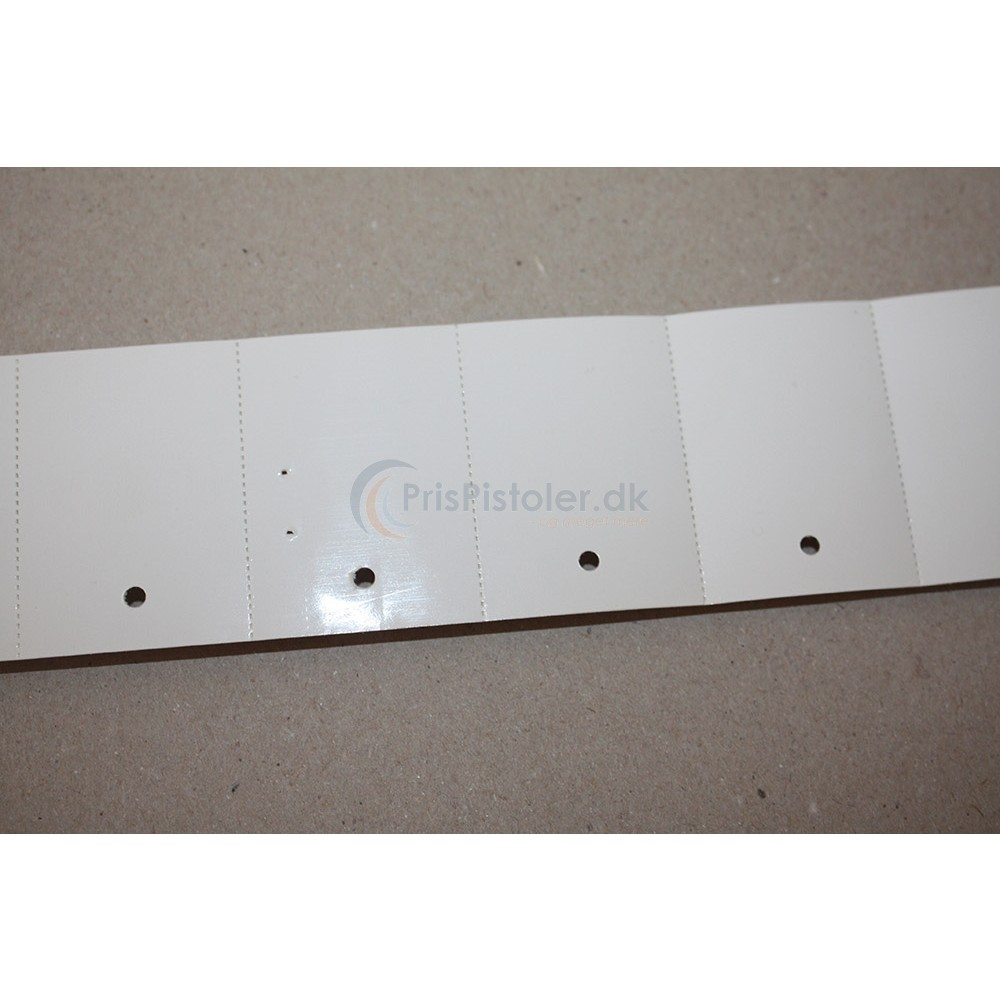 Kartonetiket 45x30mm - perforation - hul