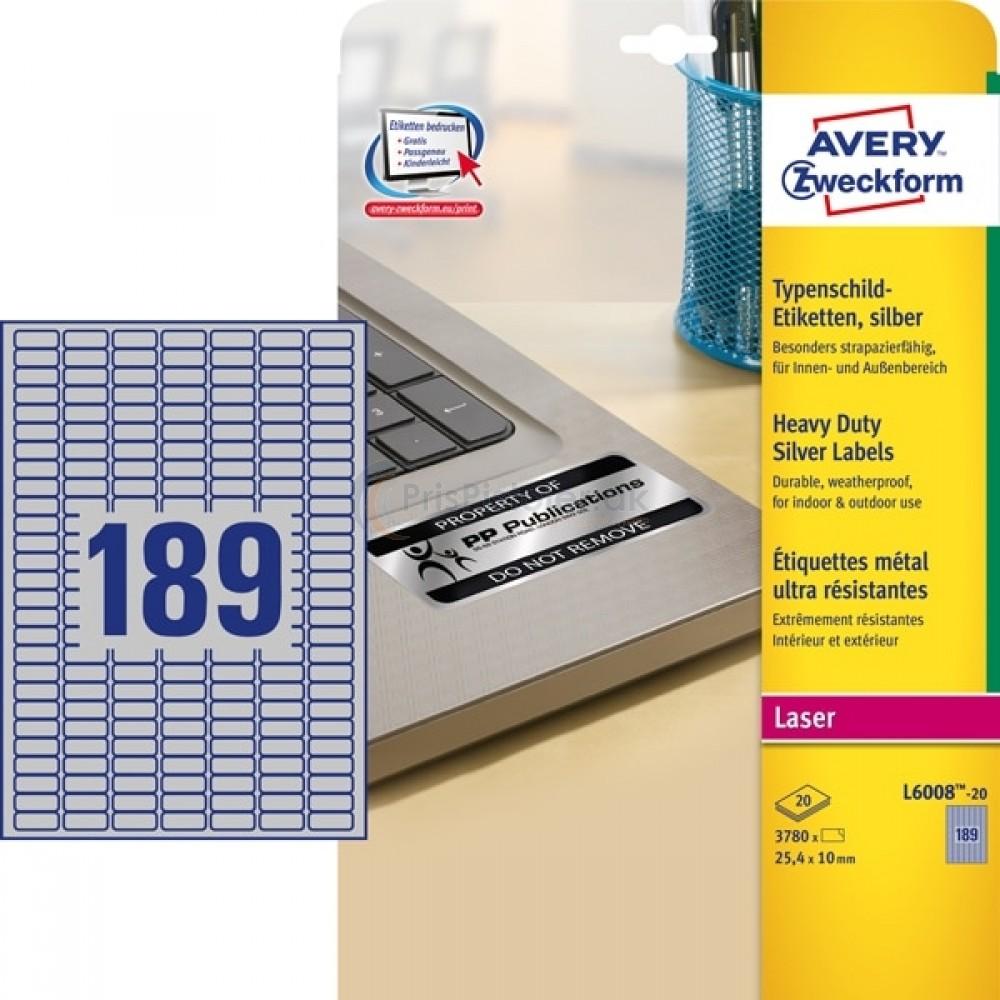 Mærkningsetiketter A4-ark L6008-20