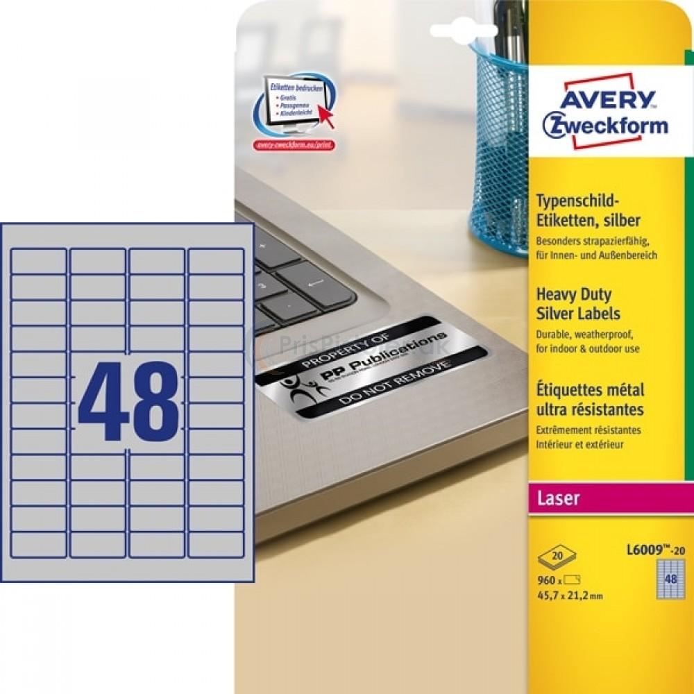 Mærkningsetiketter A4-ark L6009-20