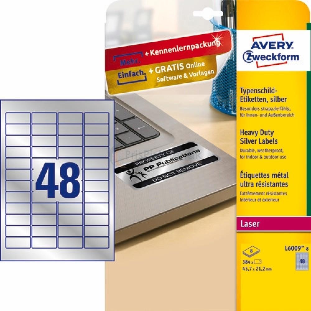 Mærkningsetiketter A4-ark L6009-8