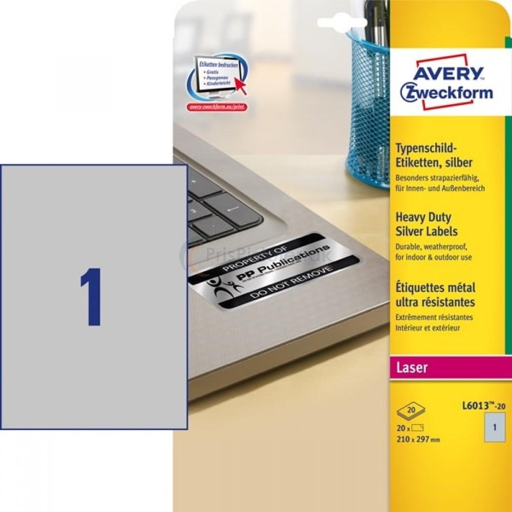 Mærkningsetiketter A4-ark L6013-20