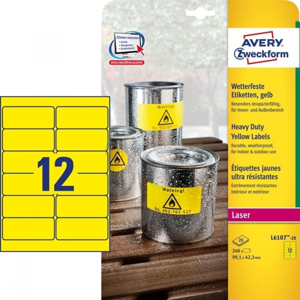 Vejrbestandige etiketter A4-ark L6107-20