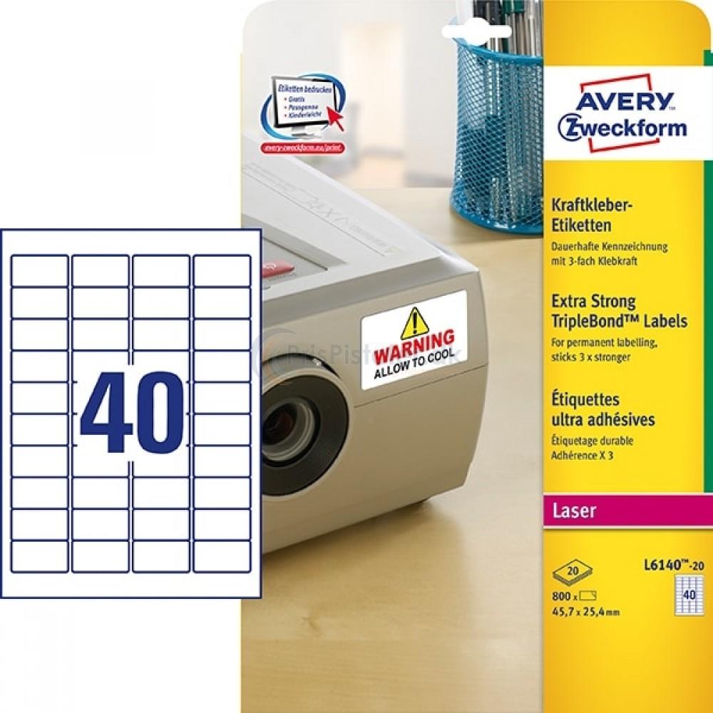 Ultrakl'bende etiketter A4-ark L6140-20