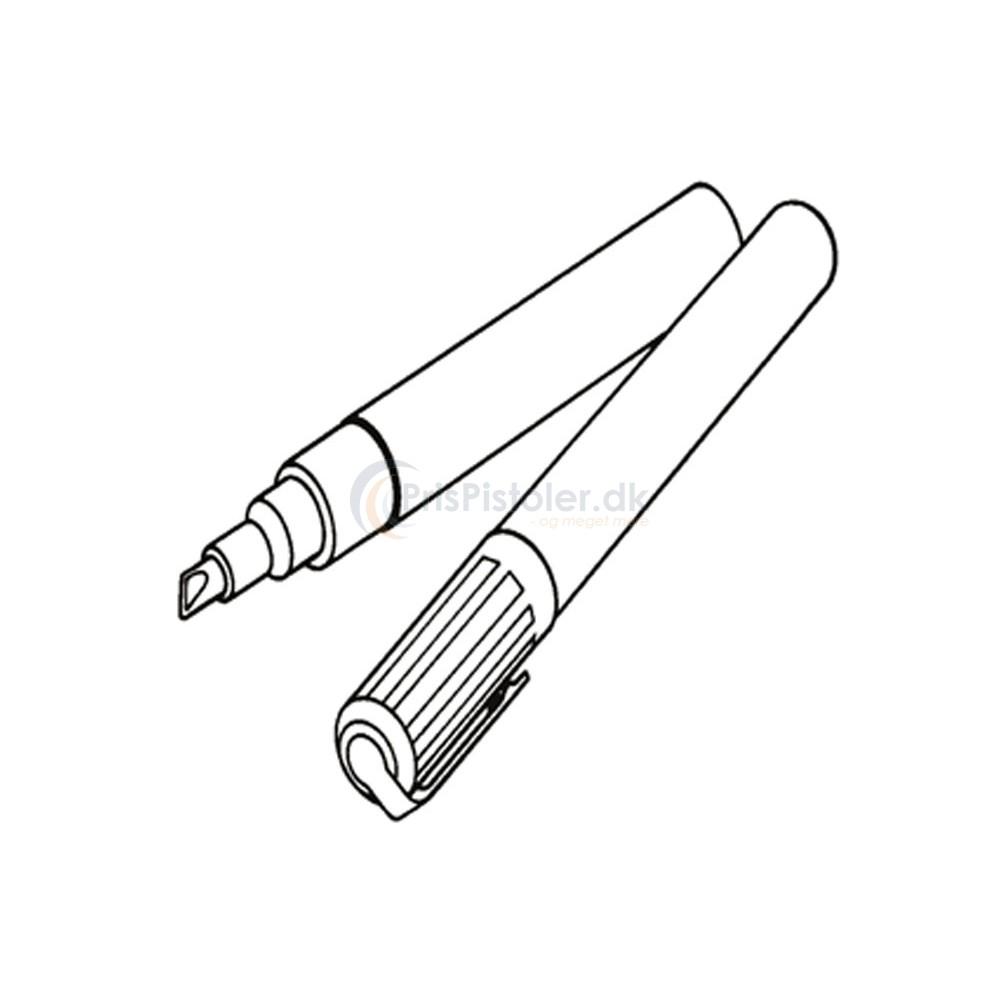 Poster Pen til skilteskrivning hvid 10/15 mm – 5 stk.