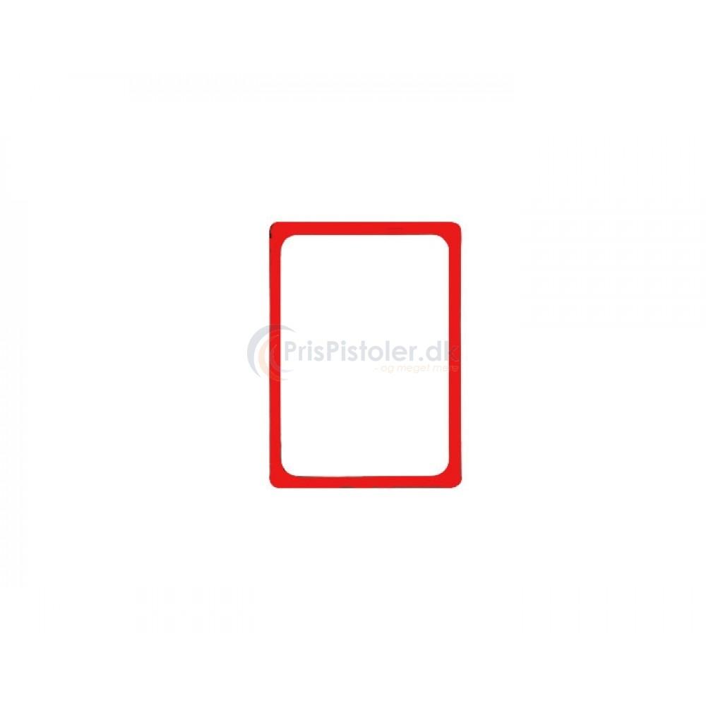 Plastramme i A5 rød – 10 stk.