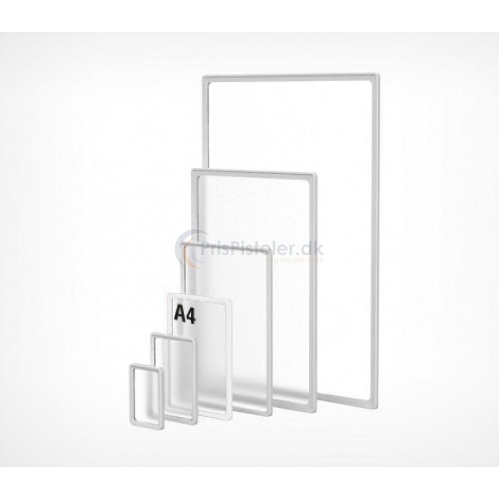 Skilteramme i A4 plast transparent 10 stk.