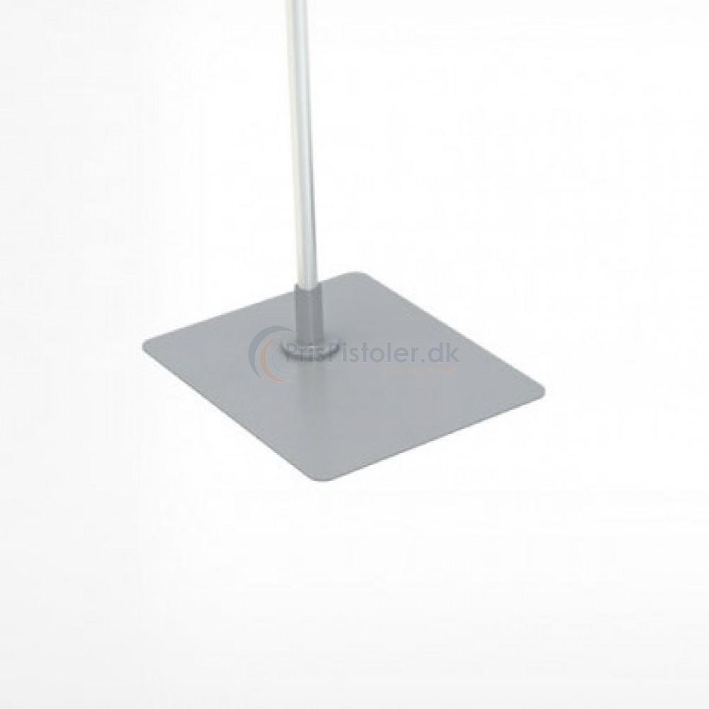 Fodplade i metal (firkantet), grå 10 stk.