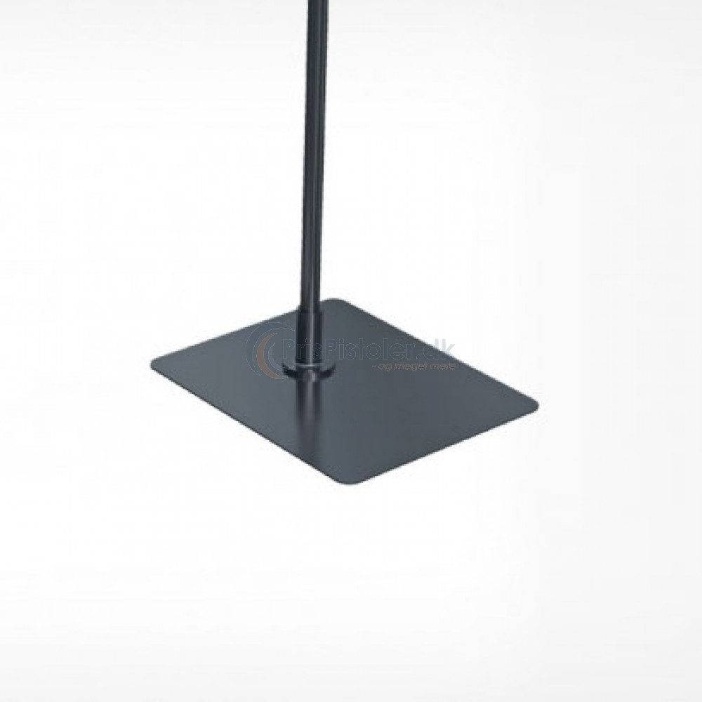 Fodplade i metal (firkantet), sort 10 stk.