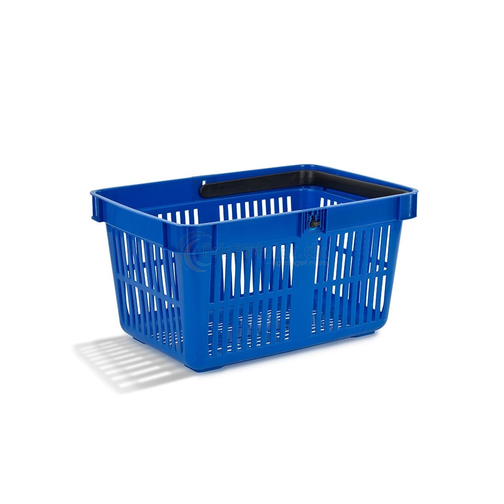 Indkøbskurv, én hank, 28 L, blå, 25 stk.