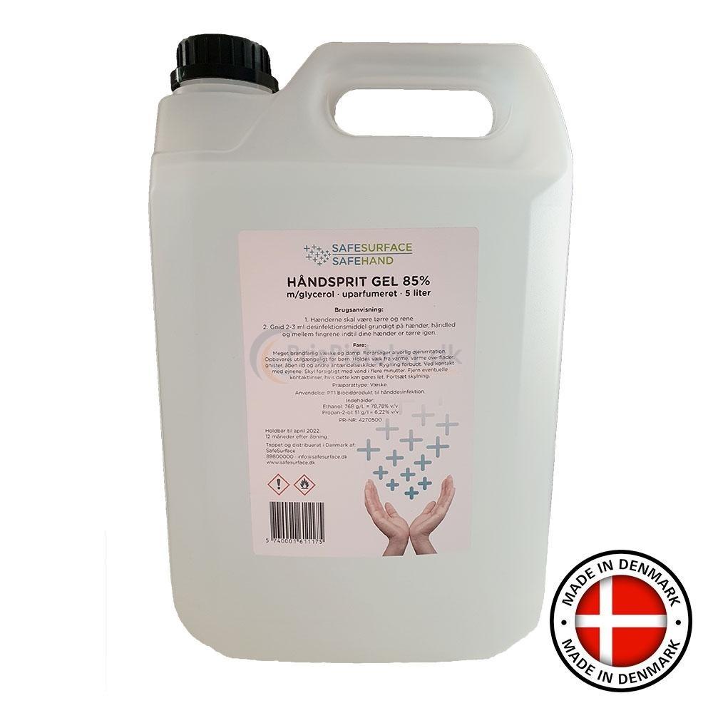 Håndsprit GEL 85% 5 liter