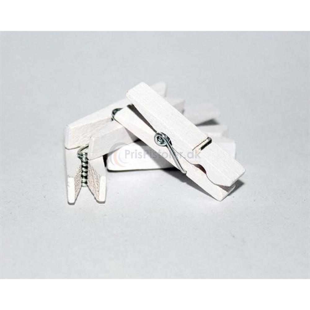 Hvide klemmer 3,5 x 0,7 cm