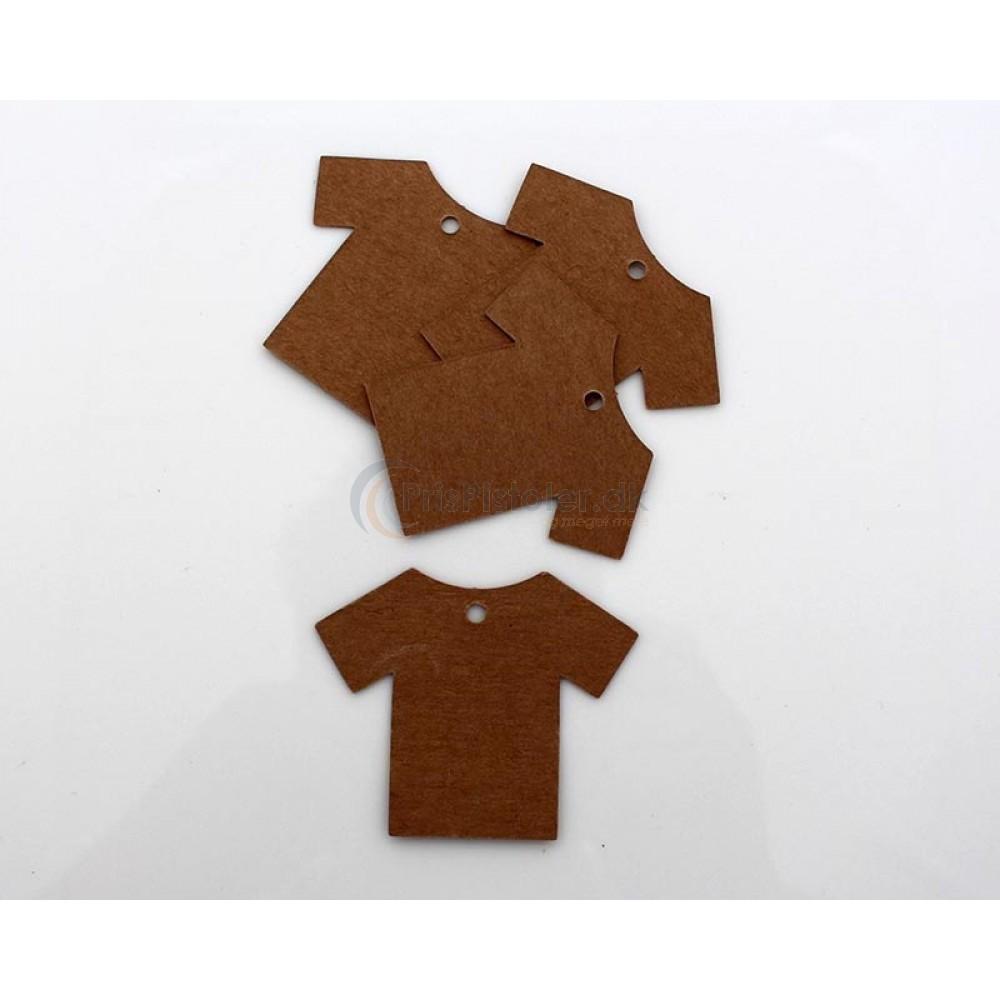 Kartonetiket 55x70 mm trøjeform