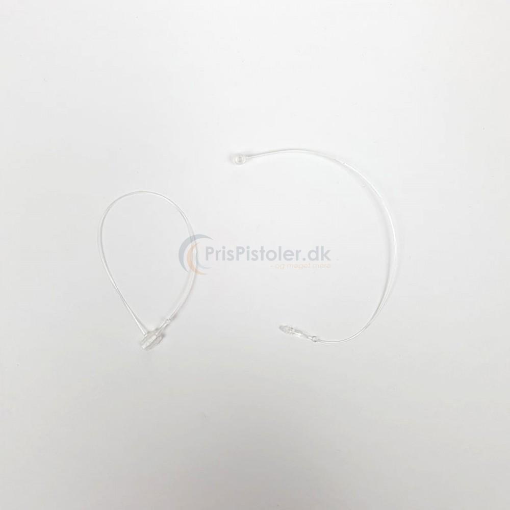 Plastik Loop Lock Tag pins transperant 130 mm - 5.000 stk.