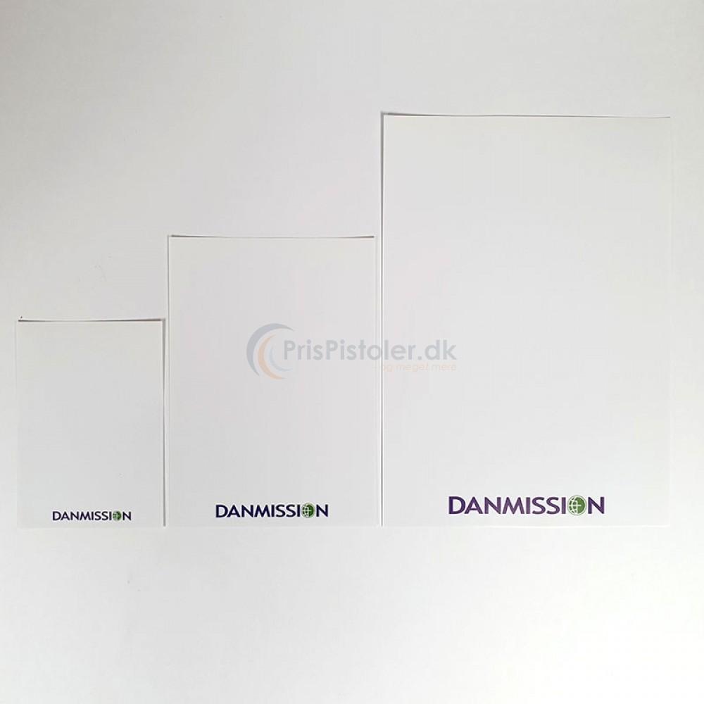 Skilte med Danmission logo 100 stk.