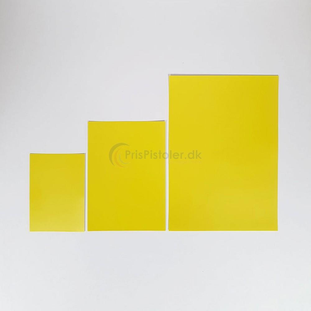 Skilte med hvid/gul bund 100 stk.