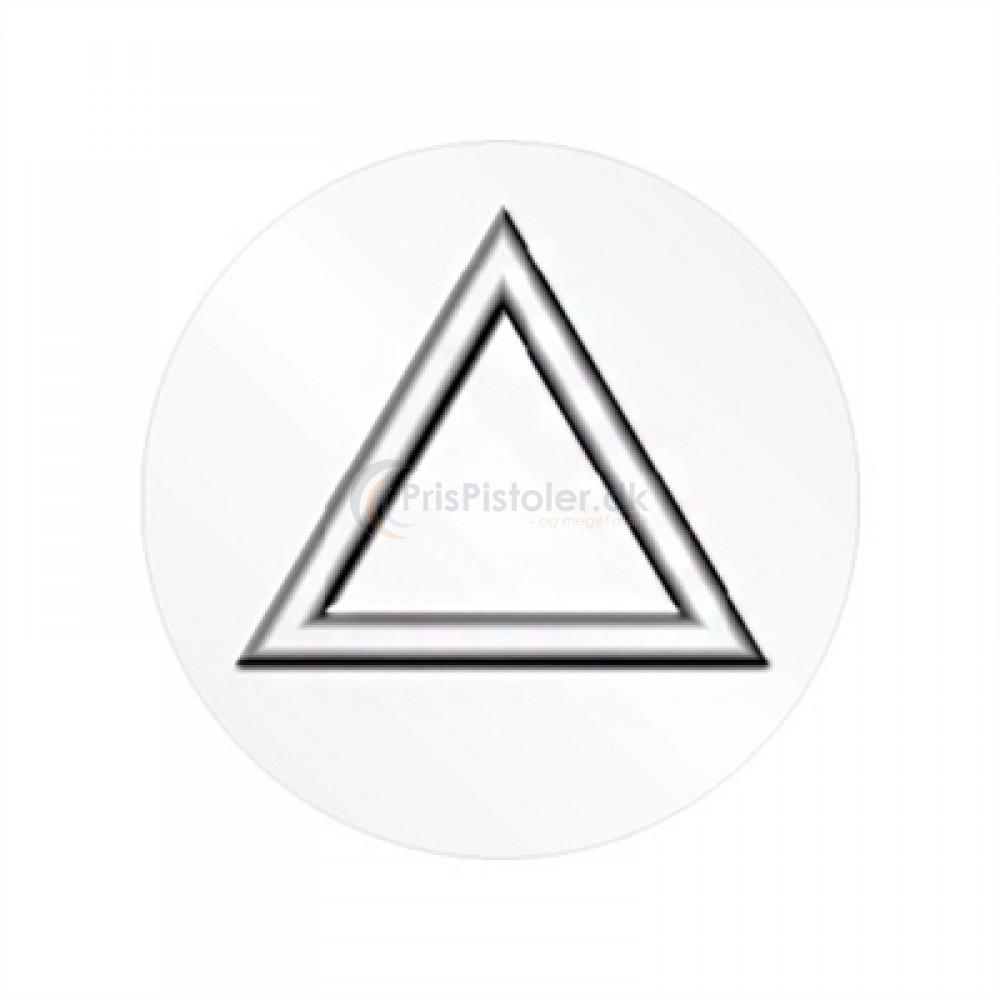 Følbare trekanter - runde - rulle á 2.500 stk.