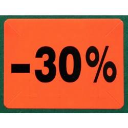 """Label """"30% rabat"""" – Pakke m. 10 ruller"""
