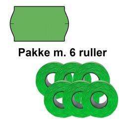 Universal Prismærker 32x19mm perm. grøn - Pakke m. 6 ruller