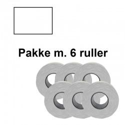 Prismærker PB220 23,1x16,2mm aftag. hvid - Pakke m. 6 ruller